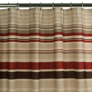 Maytex Meridian Shower Curtain 70  W by 72 L 8039001 RED Brown Beige Tan Stripe Best 25 shower curtain ideas on Pinterest Neutral bathroom