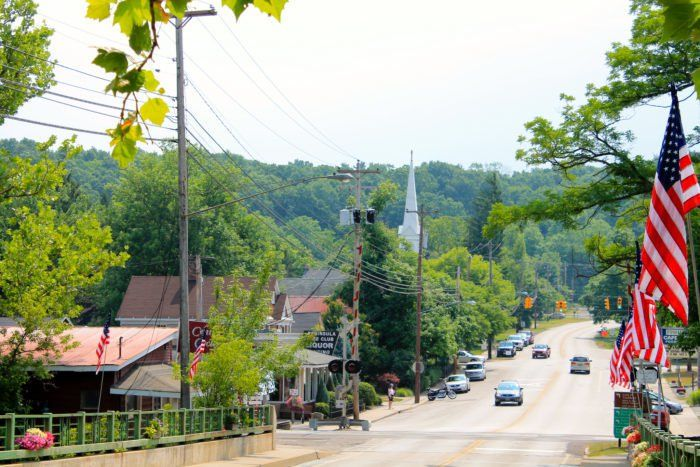 The charming village of Peninsula sits in the middle of the stunningly beautiful Cuyahoga Valley National Park. It's part of the Akron Metropolitan Statistical Area.