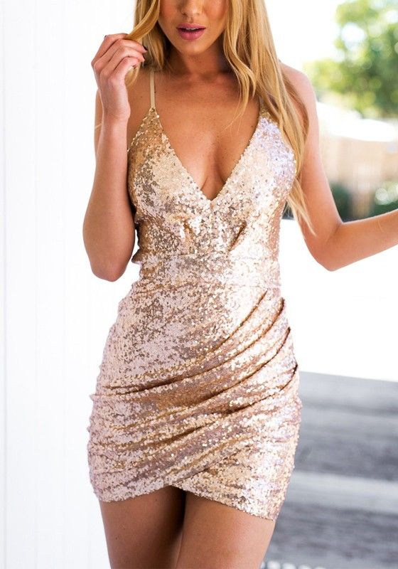 Sequined and Shimmery in Rose Gold