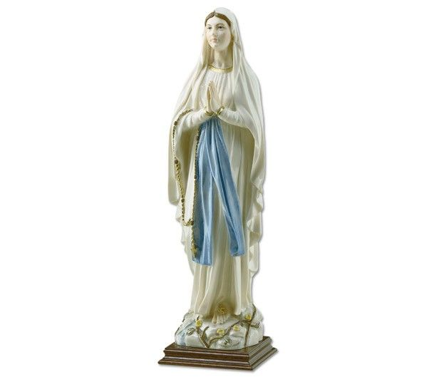 Statua Madonna di Lourdes in polvere di marmo.