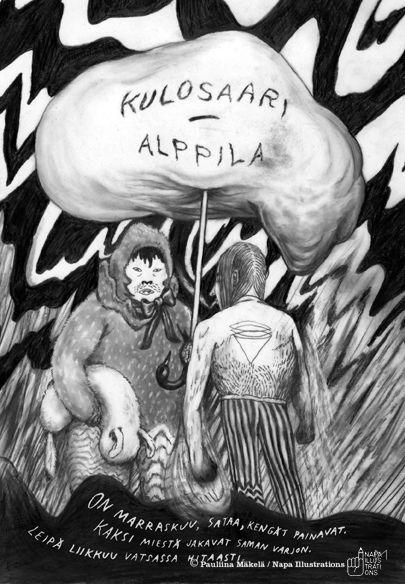 Illustration by Pauliina Mäkelä for Yellow City – Illustrated stories from Helsinki