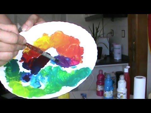 Tutorial básico sobre mezclas de color. Por la pintora Marta Ferreras. Explicación práctica para hacer los colores secundarios a partir de los tres primarios...