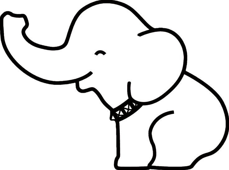 Pin Elephant Outline on Pinterest