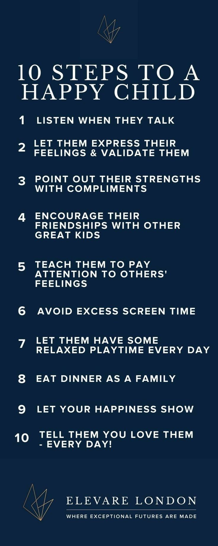 10 steps to a positive childhood