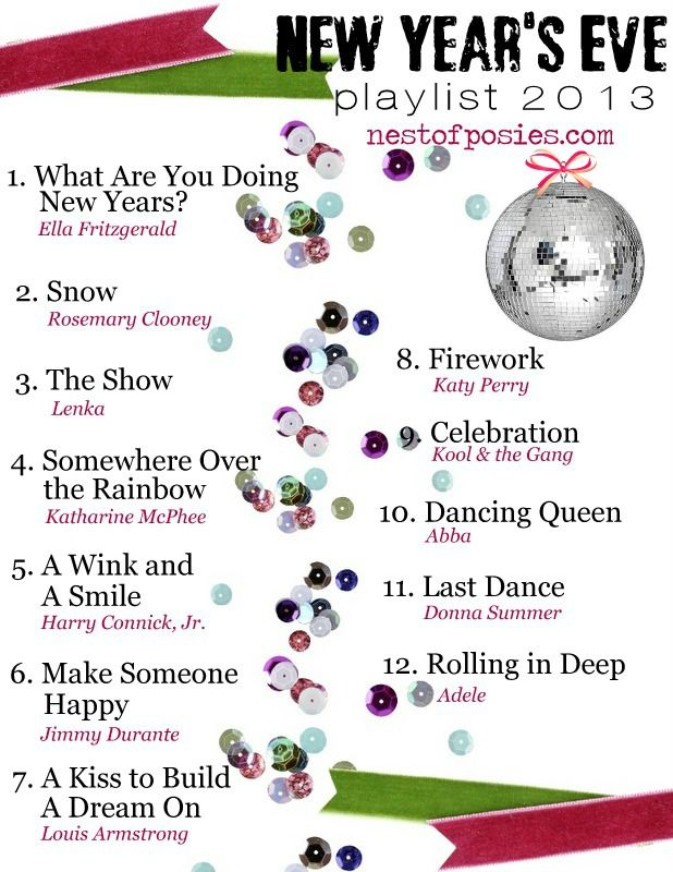 New Year's Eve Playlist 2013 via Nest of Posies