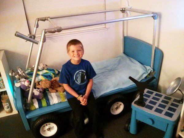 Lunar Rover Bed made with #KeeKlamp