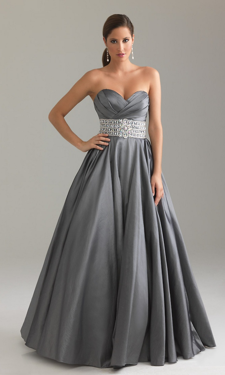 Elegant Pleated Ball Gowns, Night Moves Strapless Gowns