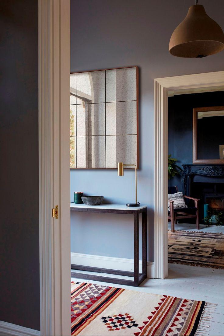 <ul> <li> Mercurised tiled mirror with rust-effect metal frame</li> <li> <strong>Height:</strong> 90cm <strong>Width: </strong>90cm <strong>Depth</strong>: 2.5cm</li> </ul>