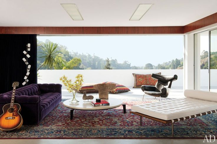 Adam Levine's Los Angeles living room.  Photo: Roger Davies