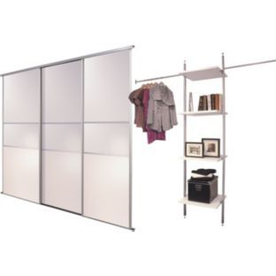 #ArgosRoomInspiration My ideal wardrobe would be a mirrored sliding doors wardrobe (Buy White Fineline Sliding Wardrobe Door Aura Kit - 3x36 Inch at Argos.co.uk)