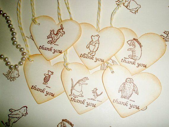 Winnie the Pooh favor tags-Wedding favor tags-piglet-eeyore-owl-tigger ...