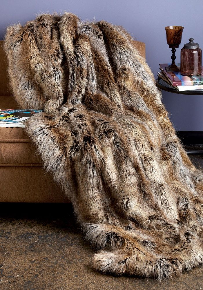 Sofa Covers Signature Faux Fur Large Throw Tipped Fox by Donna Salyers u Fabulous Furs on