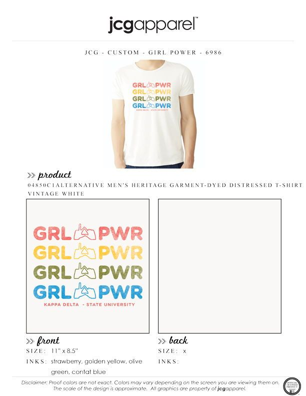 60af3e89 Kappa Delta Girl Power Shirt | Sorority Girl Power | Greek Girl ...