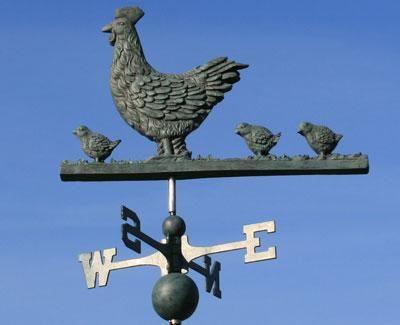 V-Tech Hen and Chicks Weathervane - 1019