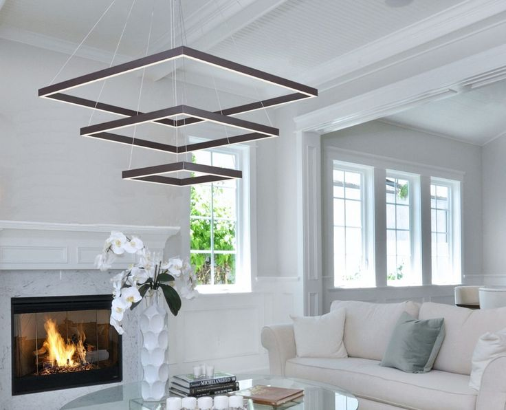 Talk about a statement maker this living rooms modern light fixture is from lighting paradise