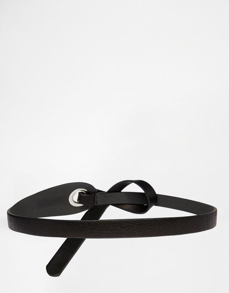 Image 4 - Warehouse - Ceinture double tour en cuir avec œillets
