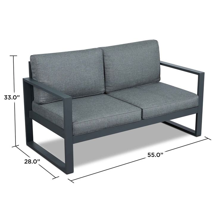 Real Flame Baltic Loveseat