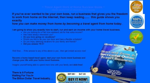 Work from home as a travel agent.  Easy to do and startup in minutes!