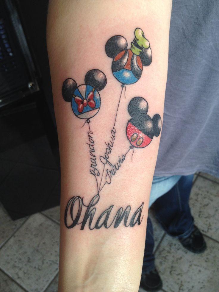 Mickey Mouse Balloon Tattoo #disney #disneytattoo #disneytattoos