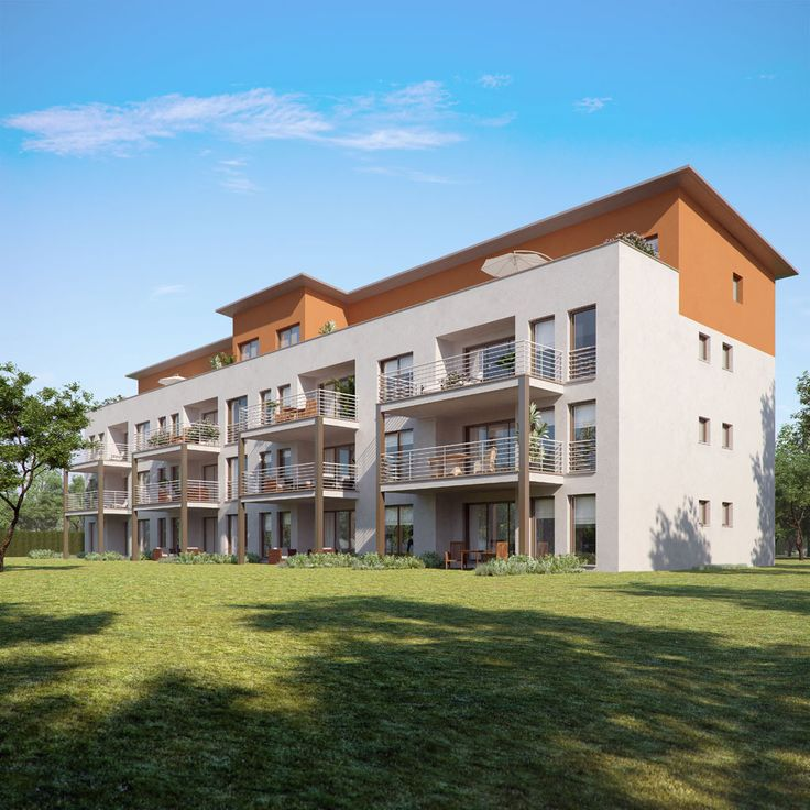 Imagen de Render 3d para arquitectura exterior