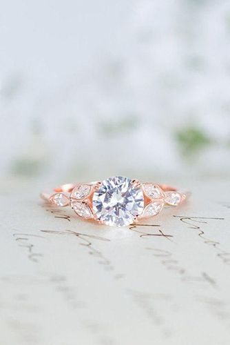 Best  Delicate Rose Gold Wedding Rings You ull Never Want To Take Off