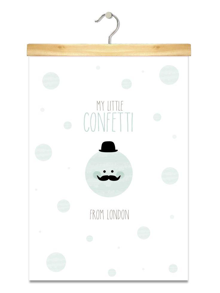 Affiche/Poster/Print A3 * Confetti from London. : Affiches, illustrations, posters par pagaille-et-cie