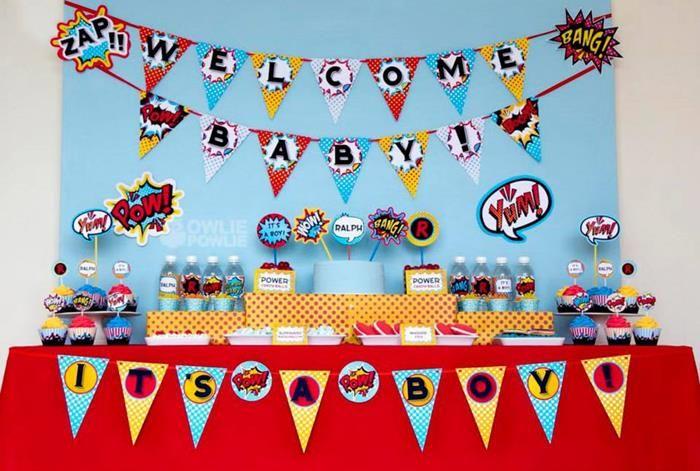 Supergirl / Superboy Baby Shower via Kara's Party Ideas #superhero #supergirl #Party #idea #supplies (13)