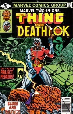 Marvel Two-In-One. The Thing and Deathlok. No. 43. Sept. Marvel Comics Group.