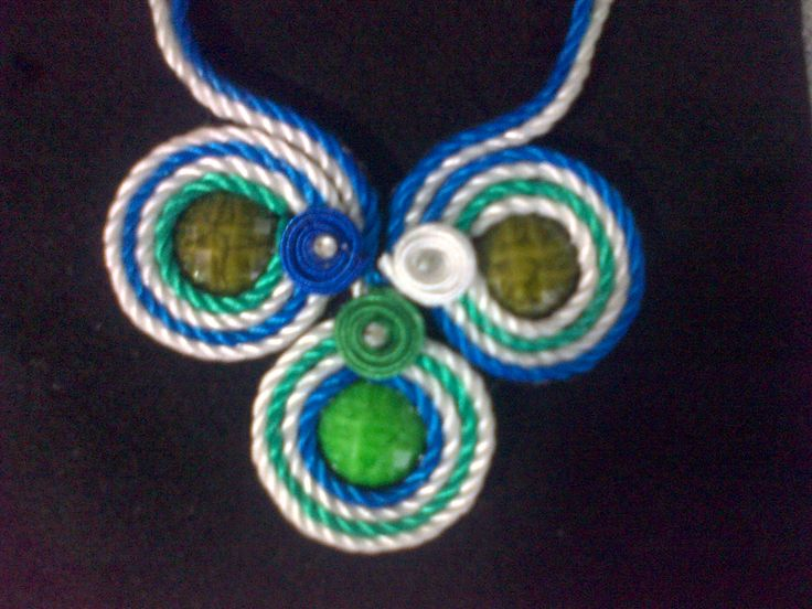 hermoso collar con cordon seda super sencillo de realizar