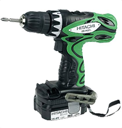 Hitachi DS14DFL Cordless Drill Drivers     1.5Ah capacity Lithium-ion battery BCL1415 and a new 40min. charger UC18YGL2.     Max torque in lock: 31Nm.     10mm keyless chuck capacity and mild steel 12mm.     22-stage torque.     Soft grip handle.     Fan-cooled motor and 2-speed gear.     Adjustable hook with bit holder.     Kit available with torchlight UB18D and bit set For More Details: http://www.mrthomas.in/hitachi-ds14dfl-cordless-drill-drivers_466