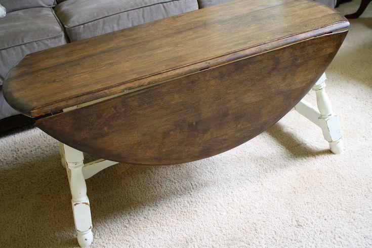 drop leaf farmhouse coffee table diy pinterest