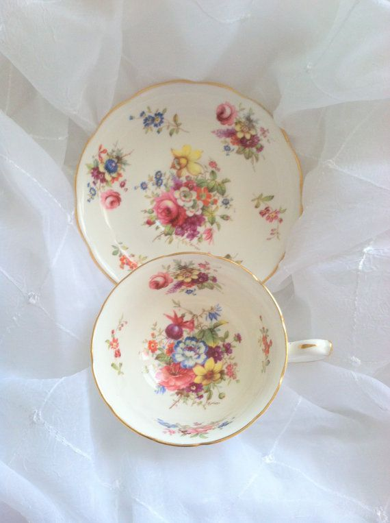 Antique Hammersley Tea Cup and Saucer Tea Party by MariasFarmhouse