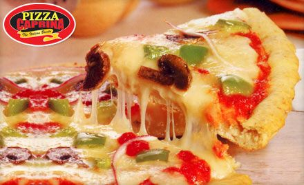 Pay Rs. 49 to get 40% off on pizza, pasta and more from the menu at Pizza Caprina.