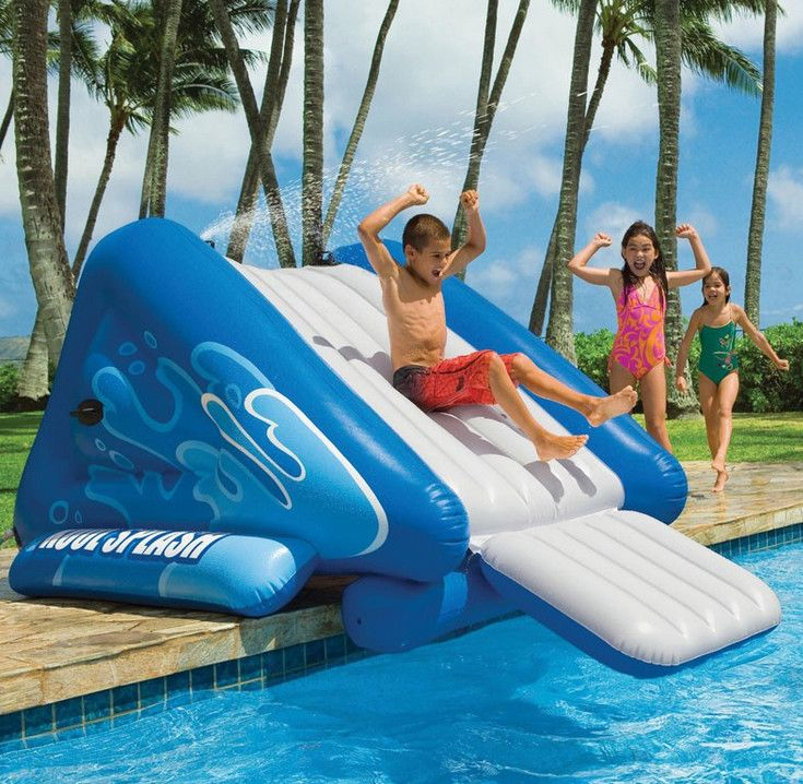 1000 Ideas About Above Ground Pool Slide On Pinterest Above Ground Pool Pool Slides And