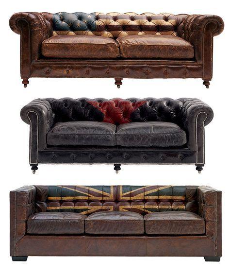 canap cuir vintage occasion. Black Bedroom Furniture Sets. Home Design Ideas