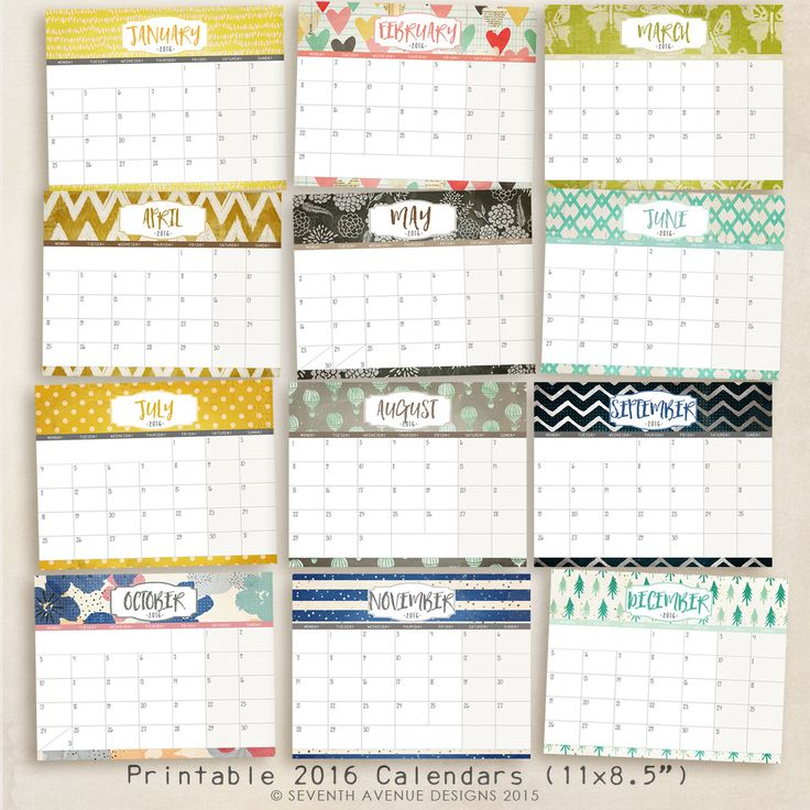 Calendar Design With Photos Free : Free printable calendars logos design and