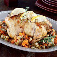 Новогодние рецепты 2014. Курица с лимоном и тимьяном