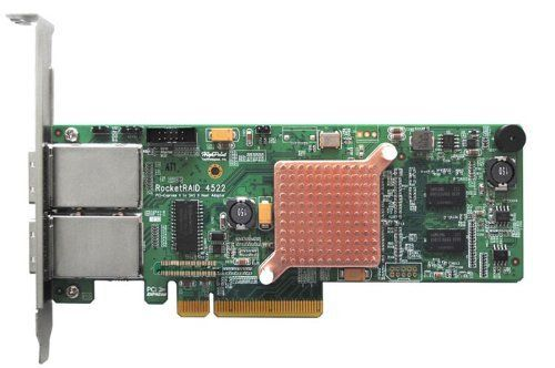 HighPoint 8-Channel SAS/SATA 6Gb/s PCI-E 2.0 x8, DDR3 512 MB On-Board Memory, RAID-On-Chip Controller Card RocketRAID 4522 by HighPoint. $573.99. RocketRAID 4522 - Delivers Superior Reliability and Maximum Performance. Industry's 1st SAS 6Gb/s Hardware RAID Host Adapter to Deliver Best-in-Class Performance Value. RocketRAID 4500 RAID-on-Chip HBA's are optimized for I/O intensive storage configurations. The dedicated ROC processor and 512MB of onboard DDR3 cache memory off...