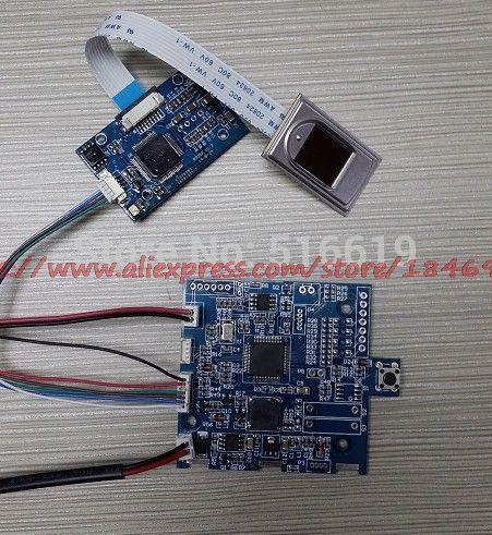 Free shipping Semiconductor capacitance fingerprint safes circuit board Fingerprint lock control board