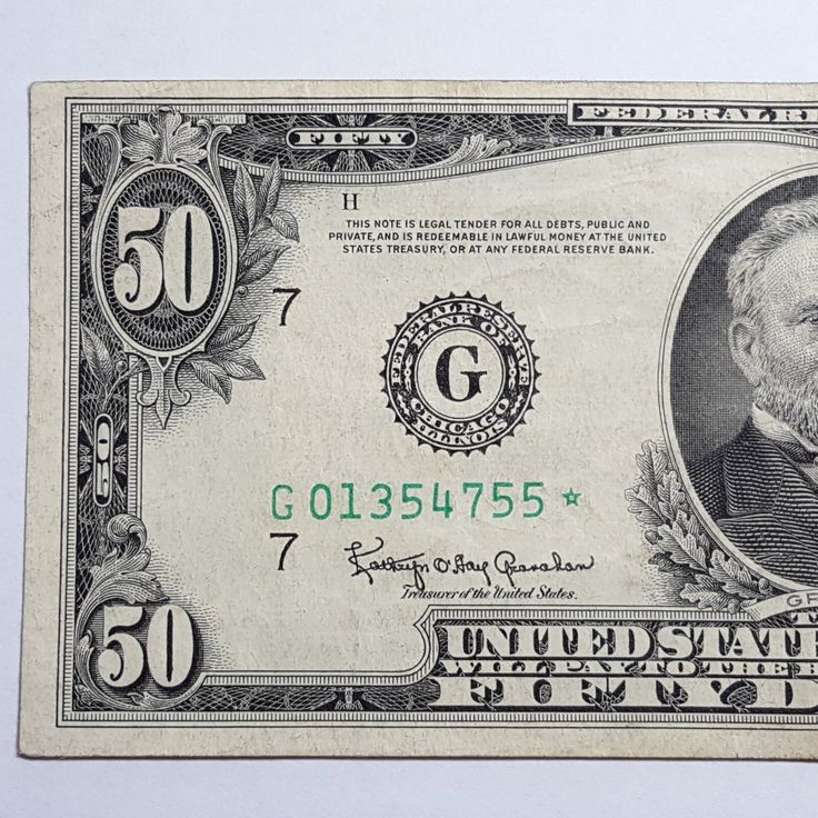 """#New post #Series 1950-E STAR $50 Dollars CHICAGO Federal Reserve Note FR-2112-G STAR RARE  http://i.ebayimg.com/images/g/dvwAAOSwux5YQdJ1/s-l1600.jpg      Item specifics   Seller Notes: """"Circulated in about Very Fine. Folds. No pinholes or tears""""       Certification:   Uncertified   Type:   Banknotes     Circulated/Uncirculated:   Circulated  ... https://www.shopnet.one/series-1950-e"""