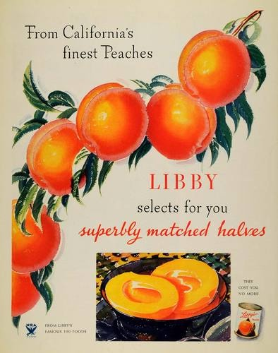 1933 Ad Libbys Canned California Peaches Fruit Healthy Original Advertising | eBay