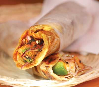 kati-roll.....Frankies are also known as Kathi Rolls or you may call it wrap. This is a popular Mumbai street food. Frankies are perfect meal for any time, or on the go. These are great vegan treat.