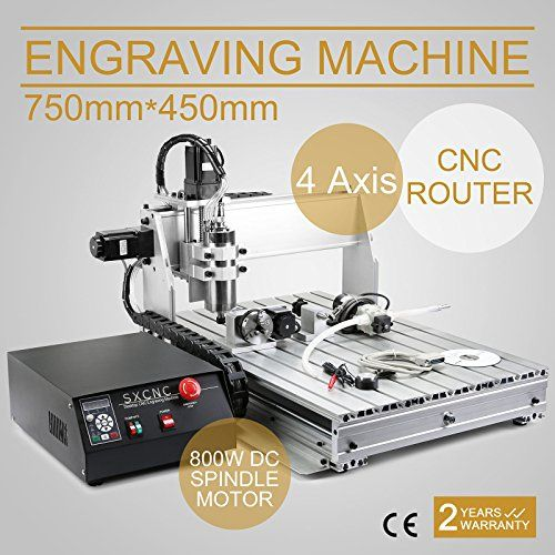 CNCShop CNC Router CNC Engraver Engraving Machine Cutting Machine 6040Z 4 Axis Carving Tools Artwork Milling Woodworking with 800w Spindle (60x40cm 6040Z 4Axis) - CHECK OUT @ http://www.laminatepanel.com/store/cncshop-cnc-router-cnc-engraver-engraving-machine-cutting-machine-6040z-4-axis-carving-tools-artwork-milling-woodworking-with-800w-spindle-60x40cm-6040z-4axis/?a=5084