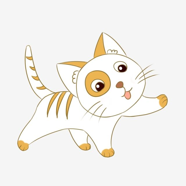 Lovely Kitten Cute Cartoon Animal Pet Hand Drawn Illustration