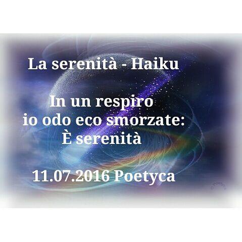La serenità  Haiku