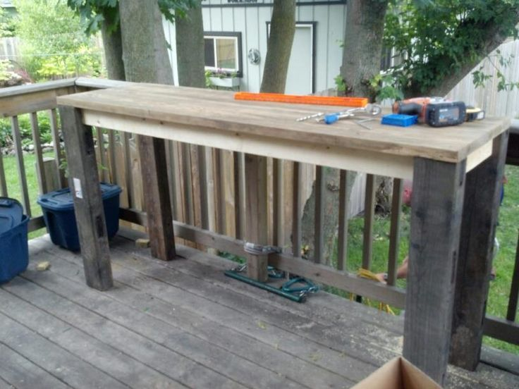 Building my pub height table for the back deck. love....LOVE....LOVING my Kreg Jig Kit!!!!!