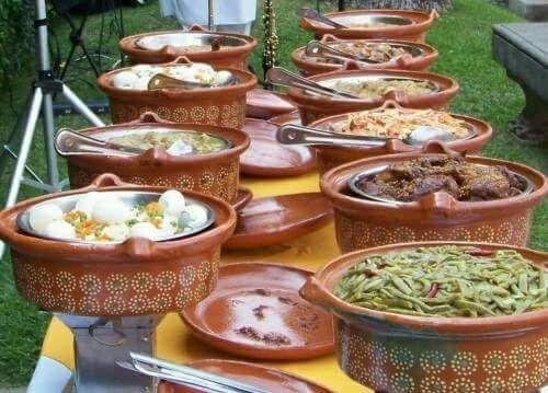 buffet para fiesta mexicana