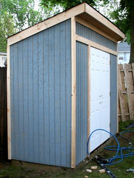 Materials list and instructions for the construction of a simple back-yard storage shed. Just the right size!