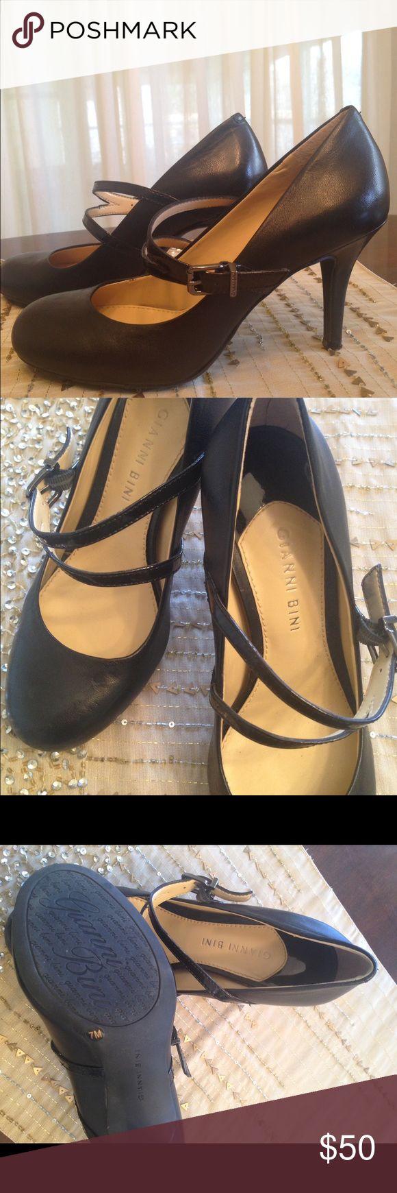 Gianni Bini leather heels. Like new! Black, leather Gianni Bini heels. Like new in excellent condition. Size 7. Gianni Bini Shoes Heels