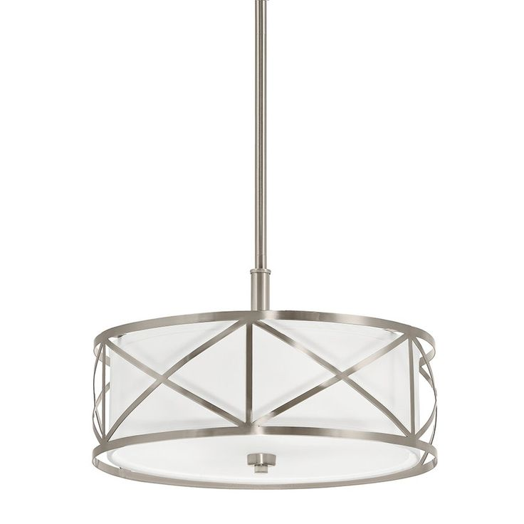 Large Drum Pendant Lighting Shop Kichler Lighting 3 Light Drum Pendant Cross At Loweu0027s Canada Find Our Selection Of Large